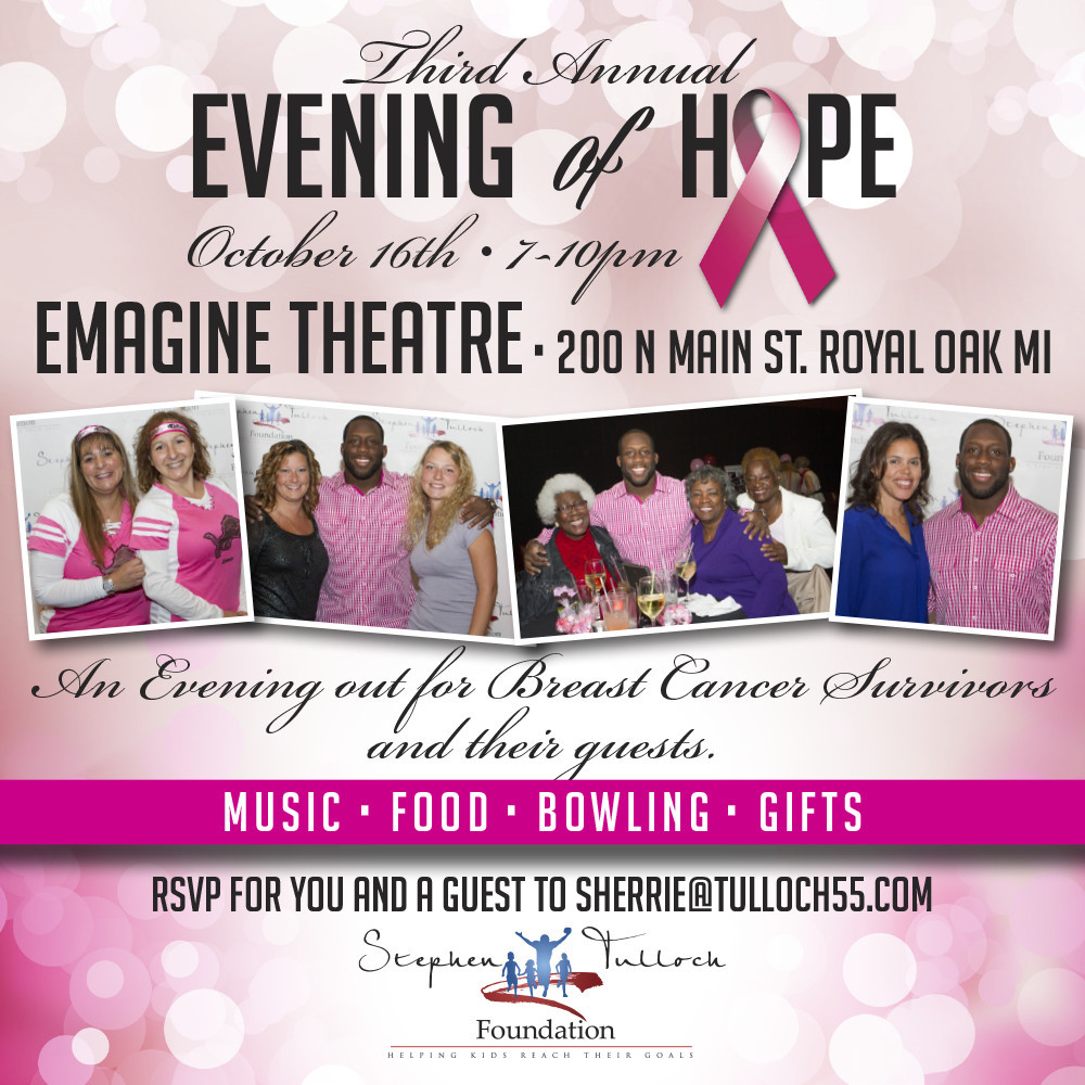 3rd Annual Evening of Hope – Stephen Tulloch Foundation